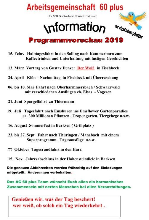 AG60 plus Programm 2019